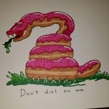 Doughnut snake by ThoughtZombie