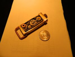 Steampunk Flash Drive holder by Paul-Nasca