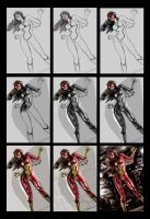 Spider Woman - Process by RaffaeleMarinetti