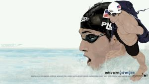 Michael Phelps vector pool by akyanyme