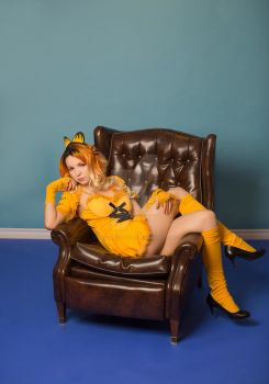 Garfield Lazy Cat Lounging on a Chair Cosplay by cosplaykittykat