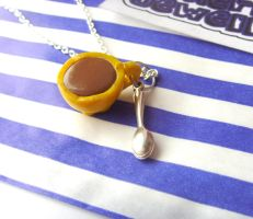 Yellow Cup Necklace by tyney123