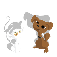 Ceiling cat and stupid dog by McFlynder