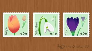 Flower Stamps by InterGrapher