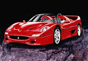 F50 - Early work. by ferrariartist