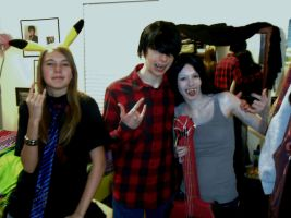 Rocketchu, Marshall Lee, and Marceline by gPrincessofDarknessf