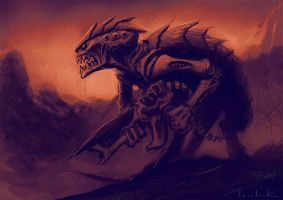 Tyranid sketch by RyanLovelock