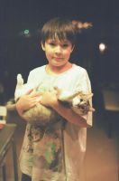 My favorite pets - a brother and a cat. Film.Zenit by maandarinaaa