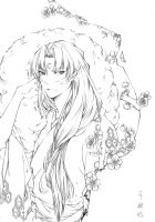 Sesshomaru of plum blossom by jiegengDai