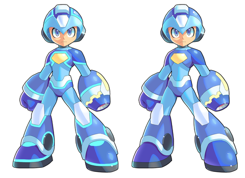 Megaman 2018 With And Without Blue Lights by V-a-a-N