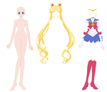 Crystal Sailor Moon Base 01 by SelenaEde