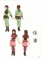 Merani and Misuti's Legend of Korra OCs by misuti555
