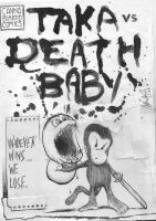 TAKA vs DEATH BABY-Front Cover by TAKAdouglas