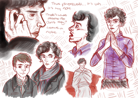 Sherlock Sketches by Helonzyz