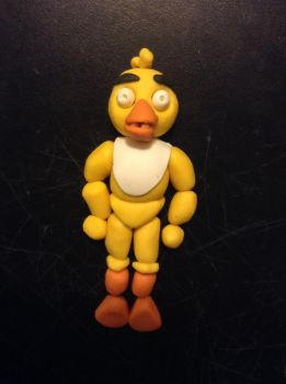 Polymer Clay Chica the Chicken from FNAF by MrsFredWeasley7