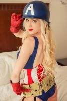 Pin-Up Captain America III by EnchantedCupcake