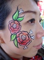 Traditional tattooed paint by thepinupgirl