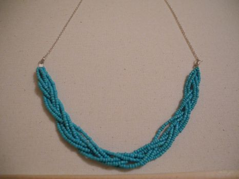 braided bead necklace by imma-flower-child