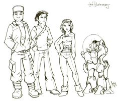 Triplanetary Webcomic Cast by Sabakakrazny