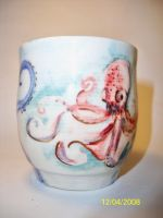 Octopus cup by trickypink