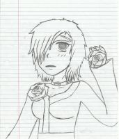 feild of roses sketch by AkatsukiLovesevery1