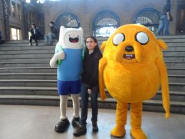 Me with Finn and Jake by Tarmiza