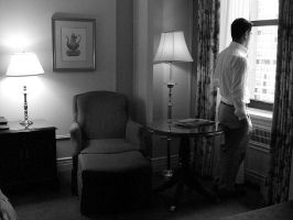 Alone in a hotel room by michael1981