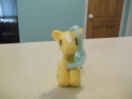 Needle felted Bubbles G1 My Little Pony fan art. by imaginaryfriends2012