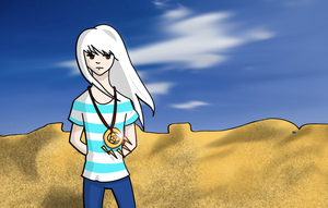 Ryou in the Desert by Donteatacowman
