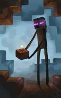 Enderman and cake C: by DymasyaSilver