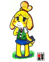 Animal Crossing - Isabelle Canela Fuffi by EV133
