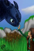 Toothless and Hiccup by eiledon