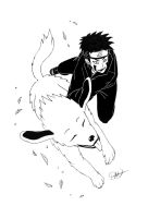 Kiba and Akamaru by free-energy03