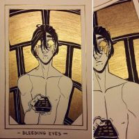 Ink/GrossTober Raffle: 3 Bleeding Eyes by Rejuch