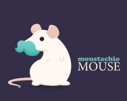 moustachio mouse by skansen