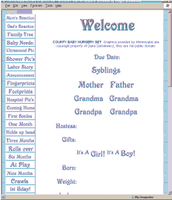 Country Folk Graphics 1999 |  Baby Web Book by DanaHaynes