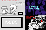 When I want to finish something fast - Rage Comic by mollymolata