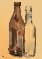 Still life - bottles by MagdaPROski