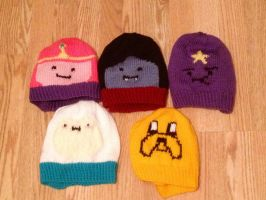 Original Adventure Time Beanie Set by Chebk