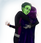 Beast Boy and Raven: I'm so glad you're okay by AidavsKonan