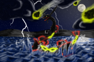 Comm - Rayquaza's Wrath by Dragon-Minded