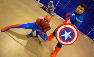 Spiderman and Captain America by GrumpyCosplay