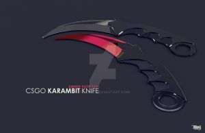 CSGO Karambit Knife Modeling and Rendering by tuhin98