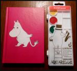 The Moomins _notebook and paints by Margo-K