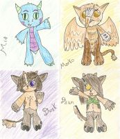 Creature Capers: The Cast by theseadragon