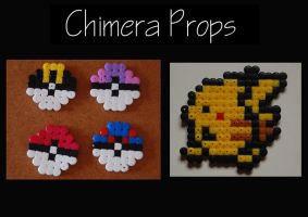 Pokemon Themed Beads by ChimeraProps