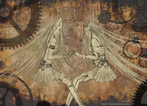 SS : Bastet and Lilia by lmmi