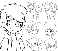 Dipper Pines' Faces by Dreamilicious