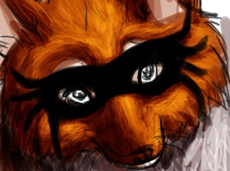 Masqued Fox by adventdaughter