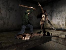 Silent Hill 2 EPIC FIGHT by ParRafahell